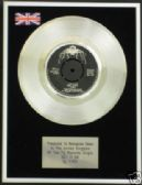"T REX - 7"" Platinum Disc - GET IT ON"